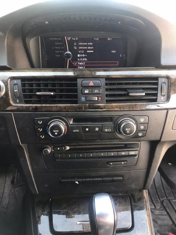 تعويض پخش فابريك BMW330از مدل ٢٠٠٨ به ٢٠١٤